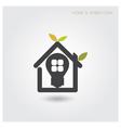 Green energy home concept vector image