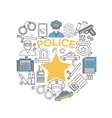 Police Line Icon Set vector image