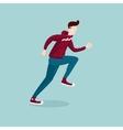 Running man The man on the run Isolated cartoon vector image