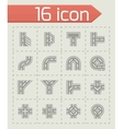 Road elements icon set vector image