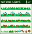 0915 10 flat grass elements set1 v vector image