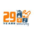 29 year gift box ribbon anniversa vector image vector image