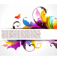 background with colored floral ornament vector image vector image