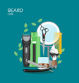 beard care flat style design vector image vector image