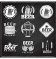 Beer chalkboard emblems vector image vector image