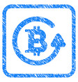 bitcoin refund framed stamp vector image vector image
