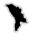 black silhouette of the country moldova with the vector image vector image