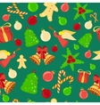 Bright Christmas Seamless Background vector image vector image