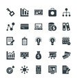 Business Cool Icons 4 vector image vector image
