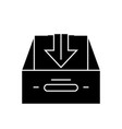 business inbox black concept icon business vector image vector image