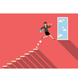 Business woman jumping to success vector image vector image