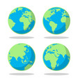 cartoon flat earth planet set vector image