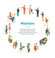 characters different musicians people banner card vector image