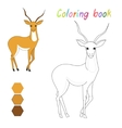 Coloring book gazelle kids layout for game vector image vector image