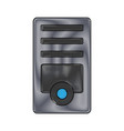 computer tower icon vector image vector image