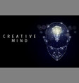 creative mind poster banner template vector image