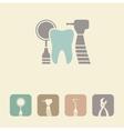 Dental symbol icon vector image vector image