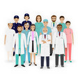 doctors nurses and paramedics characters icons vector image vector image