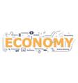 economy word desigh vector image vector image