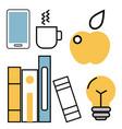education school web outline vector image vector image
