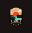 emblem patch logo olympic national park vector image vector image