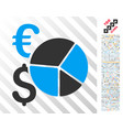 financial pie chart flat icon with bonus vector image vector image