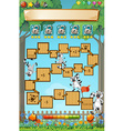 Game template with lemur in garden vector image vector image