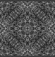 grey seamless kaleidoscope pattern background vector image vector image