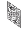 grill panel is a german 16th century design vector image vector image