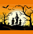 halloween background with vector image vector image