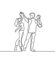 happy loving couple dancing with bain hands vector image