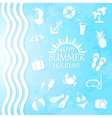 happy summer holiday vector image vector image