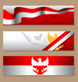 indonesia independence day simple blank banner set