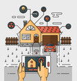 line art abstract smart home vector image