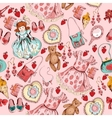 Little girl accessories seamless pattern vector image