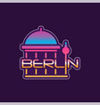 logo with berlin abstract cathedral in gradient vector image