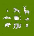 merry christmas symbols green vector image vector image