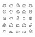 mini icon set - clothing man icon bold line style vector image