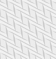 Monochrome pattern with light gray braid grid on vector image vector image