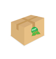 organic icon on box vector image vector image