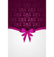 pink damask background vector image vector image