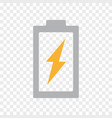 power battery energy lightning bolt icon vector image