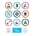 Real estate auction icons Home key sign vector image