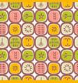 retro scandinavian seamless pattern fruits vector image vector image