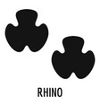 rhino step icon simple style vector image vector image