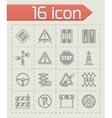 Road icon set vector image vector image