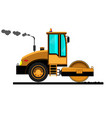 road roller sets asphalt vector image