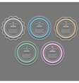 Round banners options for infographics design vector image vector image