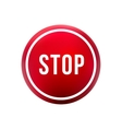round red button stop vector image vector image