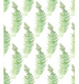 seamless pattern watercolor ferns vector image vector image